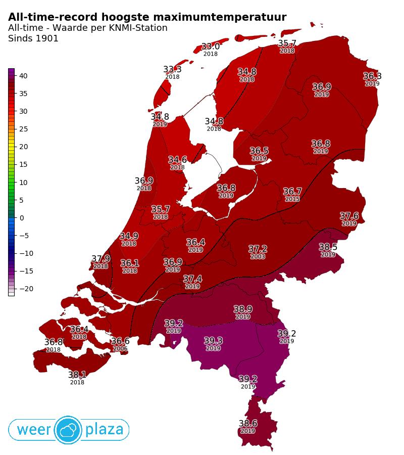 1194d999dd6 Live blog: Eerste keer 40 graden | Weer in het nieuws | Weerplaza.nl